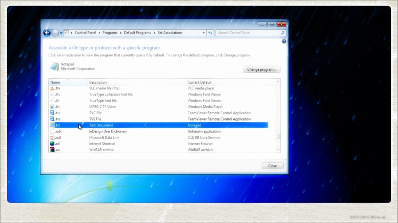how to set google as default on windows 7