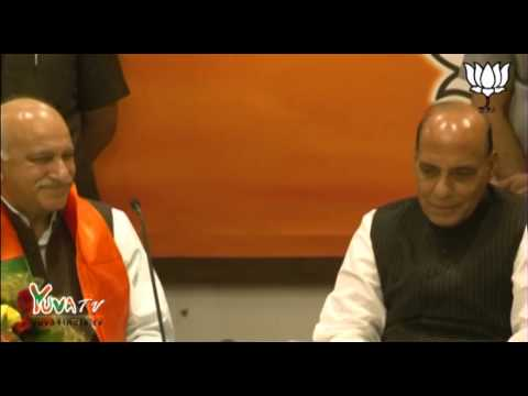 M.J Akbar joins BJP in the presence of Shri Rajnath Singh