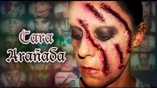 Maquillaje Halloween: Cara arañada