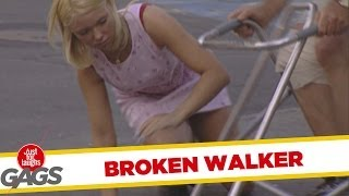 Just for laughs gags - Broken walker prank