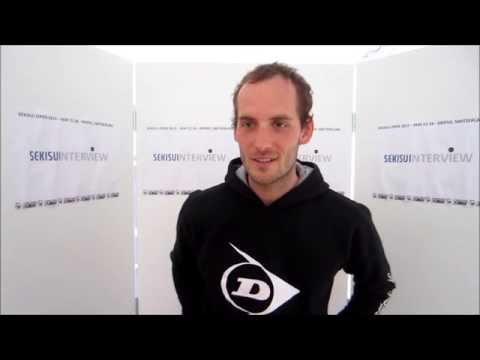 SEKISUI OPEN 2013 Interview Sebastiaan Weenink