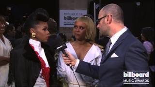 Janelle Monae & Erykah Badu Backstage At Billboard Awards