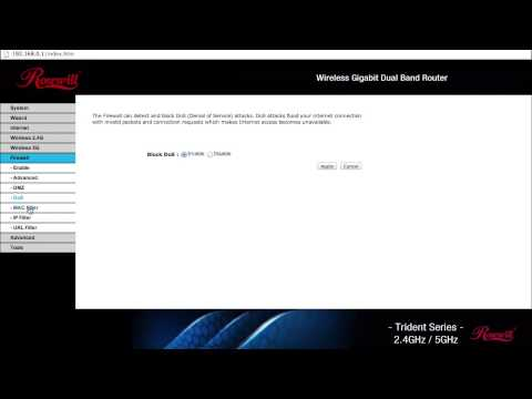 Rosewill T600N Wireless Router Control Panel Overview