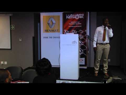 Renault and UJ Alumni network in Conversation with Tebogo Ditshego