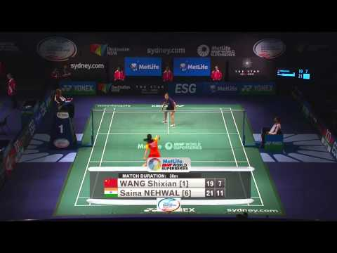 2014 THE STAR AUSTRALIAN BADMINTON OPEN-SF-WS- Wang Shixian (CHN) [1] VS Saina Nehwal (IND) [6]