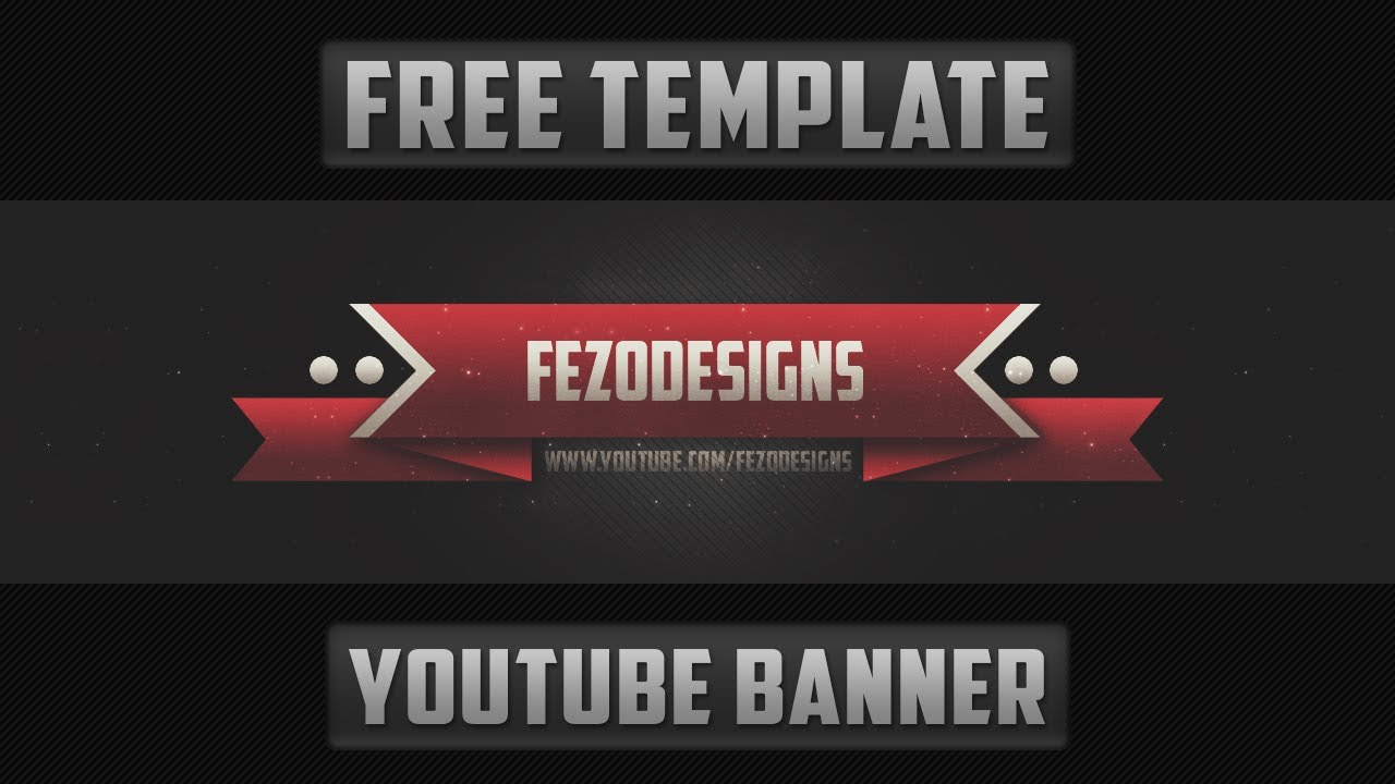 2D YouTube Banner Template - Free Download - YouTube