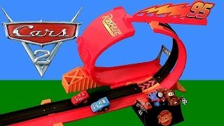 Pixar Cars Rip-Start Challenge Loop Track Riplash Racers