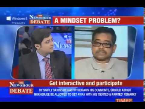The Best Indian Debate Ever - Arnab Goswami VS Abhijit Mukherjee
