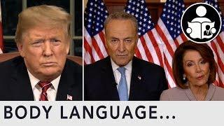 Body Language: Government Shutdown Trump Vs Chuck & Pelosi
