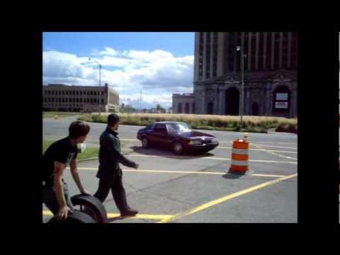 Detroit Block Party Street Drifting-Michigan Gumball Rally Pt.2