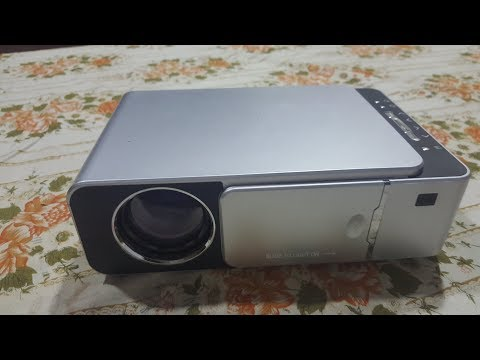 video Alston T6 mini projetor