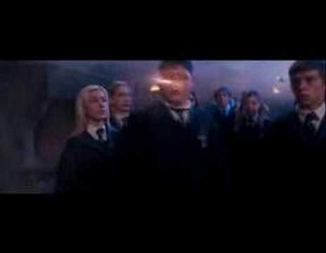 Fred and George Weasley doing the best scene in the movie, Okay this is the scence when Fred and George flies in and scare the hell out of Slytherin and Umbridge. Whatch this if you're mad at a teacher maybe it will ...