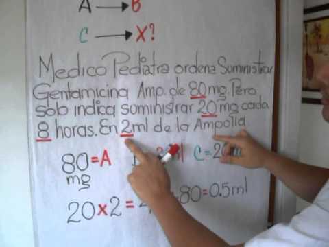 ADMINISTRACION DE MEDICAMENTOS APLICACION DE LA REGLA DE TRES SIMPLE