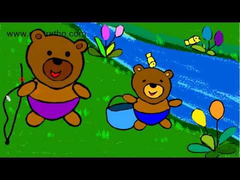 Hoạt hình gấu câu cá-chuyện kể rèn tính kiên nhẫn- Bé kể chuyện_Cartoon stories for kids