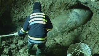 World War II bomb discovered beneath the streets of Belgrade, Serbia