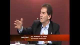 Paulinho da Força, presidente do Solidariedade, é entrevistado no Frente a Frente, da Rede Vida