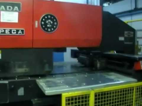 AMADA CNC TURRET PUNCH PRESS - YouTube