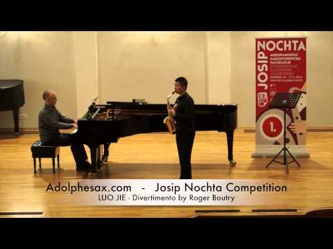 Josip Nochta Competition LUO JIE Divertimento by Roger Boutry