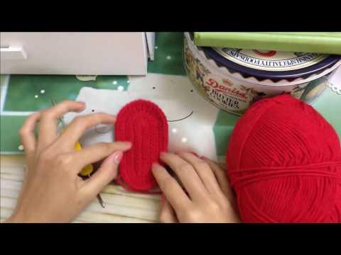 Hướng dẫn  móc đế giày trẻ em - How to crochet sole shoes baby