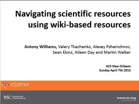 Navigating scientific resources using wiki-based resources