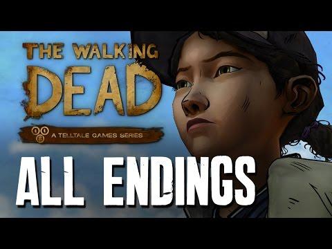 The Walking Dead Season 2 Episode 5 ALL ENDINGS - ALONE, JANE, KENNY, WELLINGTON