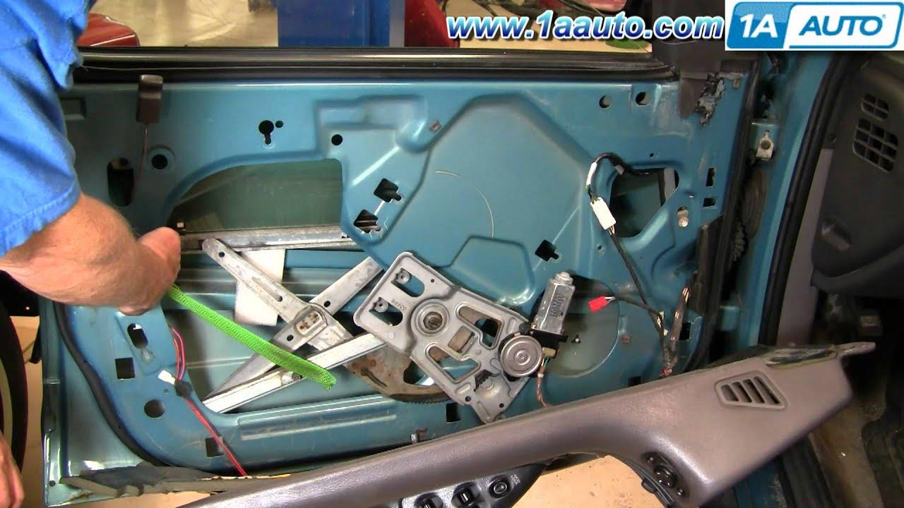 How to install replace broken front window motor dodge for 2002 dodge caravan power window problem