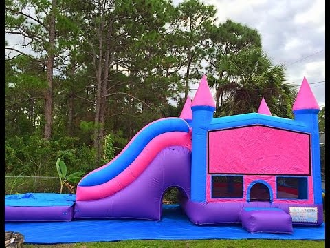 The big slide combo fun, and delivering a bounce house waterslide royal combo for $280