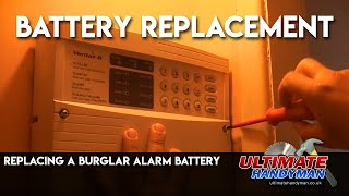 Burglar alarm battery replacement
