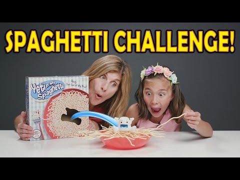 SPAGHETTI CHALLENGE!!! Yeti In My Spaghetti Game! Mother vs. Daughter!