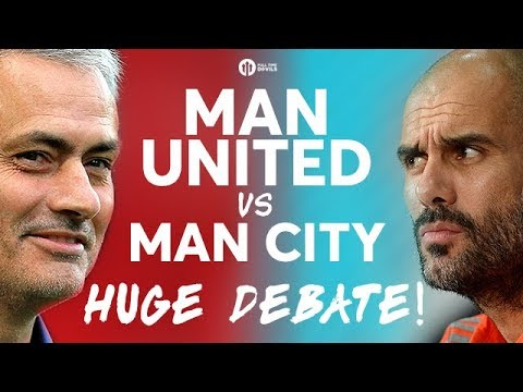 MANCHESTER UNITED VS MANCHESTER CITY! The HUGE Live DERBY DEBATE