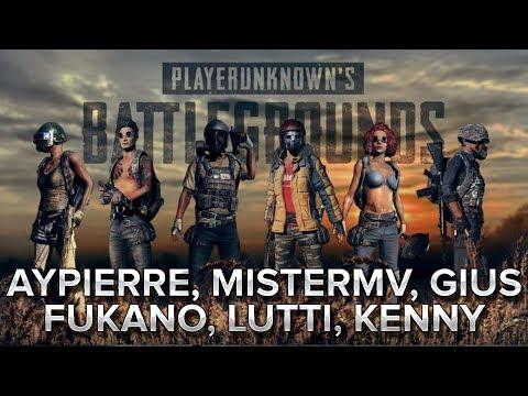 PUBG : Aypierre Mistermv Gius Fukano Lutti Kenny.
