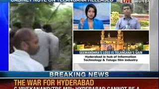 TRS- Telangana is nothing without Hyderabad