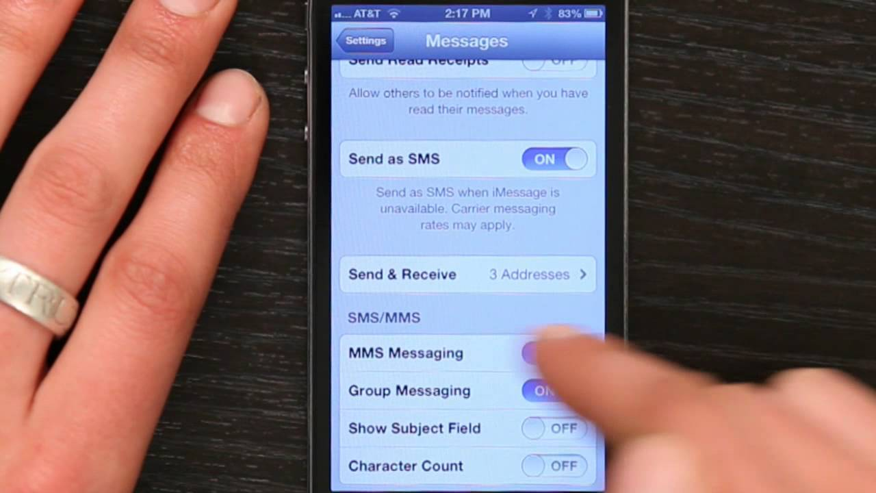 Send And Recieve Text Message Pictures On Iphone