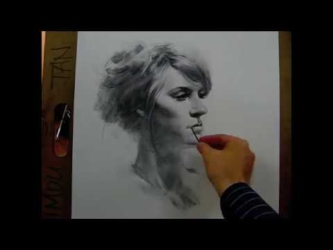 60 minutes live drawing demo by Zimou Tan