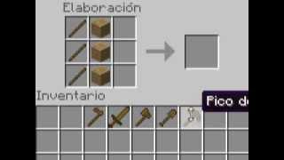 Minecraft-como Hacer Una Azada,espada,hacha,pico Y Pala De
