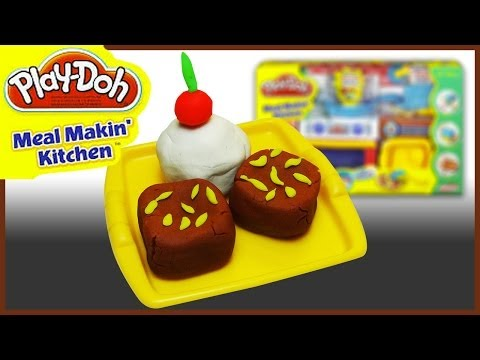 Play Doh Meal Makin' Kitchen - Brownies and Vanilla Ice Cream