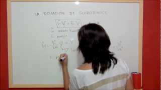 QUIMICA Estructura de la materia - Ecuación de Schrödinger