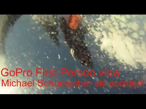 HD Gopro Michael Schumacher ski accident first person view EXCLUSIVE skiiing