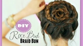★ ROSE BUD FLOWER BRAID HAIRSTYLES Peinados & UPDOS FOR