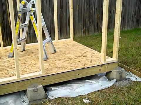 How to build a small shed foundation barn shed building plans for Cheapest way to build a house foundation