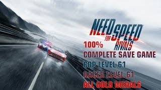 Need For Speed:Rivals 100% Complete Xbox 360 Save (Save