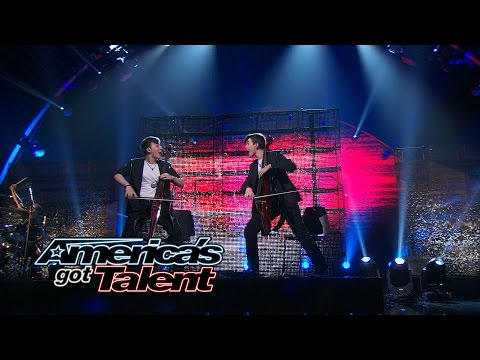 Emil & Dariel: Rock & Roll Cellists Cover The Rolling Stones - America's Got Talent 2014