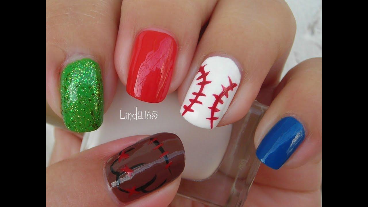 Nail art baseball nails u as de beisbol decoraci n - Decoracion de unas fotos ...