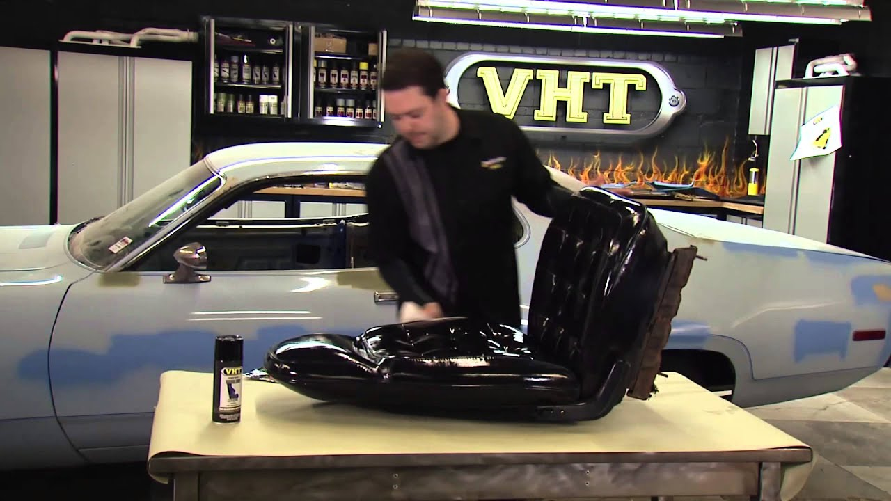 Painting Car Seats With Vht Vinyl Dye Restoration Of