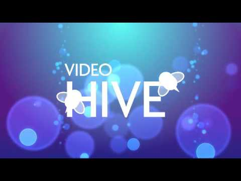 Bokeh - Bubbles on blue background | After Effects Template 39448