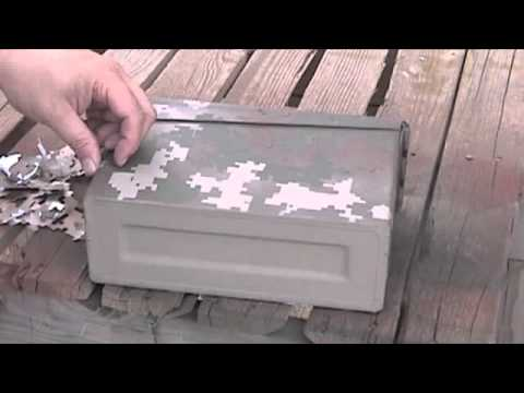paper stencil and spray paint camo youtube. Black Bedroom Furniture Sets. Home Design Ideas