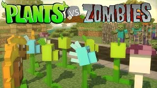 Minecraft Plants Vs. Zombies Mod Showcase! (Plants Vs