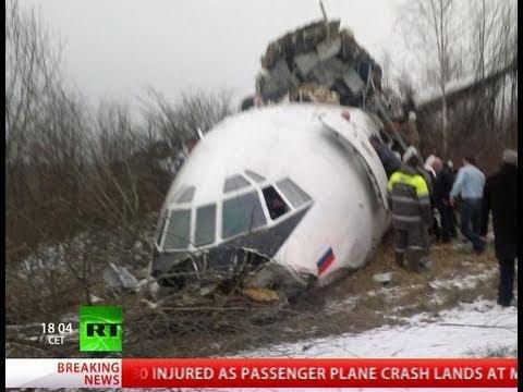2 killed, dozens injured as plane breaks apart in crash landing in Moscow