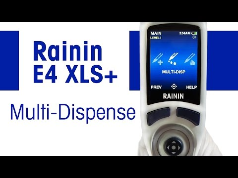 Rainin E4 XLS, XLS+ pipette: Multi-dispense
