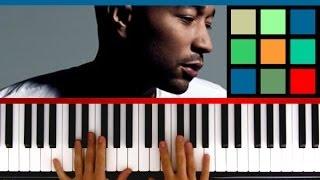 "How To Play ""All Of Me"" Piano Tutorial / Sheet Music (John"